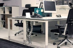 Schreibtischsystem, dass auf der Orgatec 2013 vorgestellt wurde