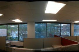 360 Grad Bild eines Call-Center Cubicles