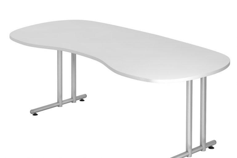 Schreibtisch Nierenform
