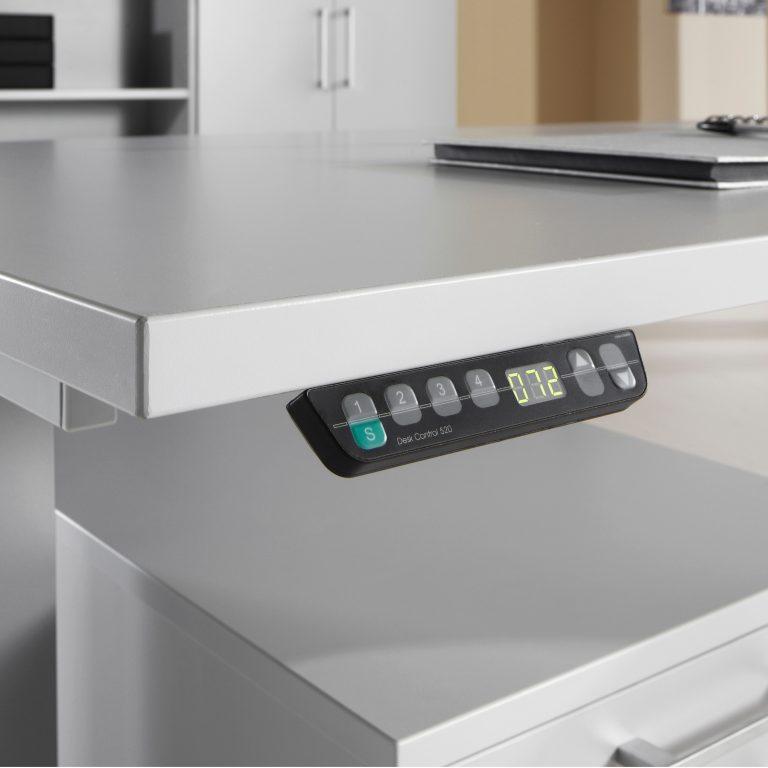 Programmierbare Steuerkonsole eines ergonomischen, höhenverstellbaren Schreibtisches