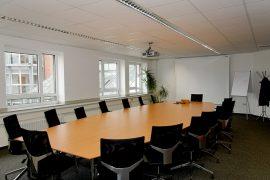 Freischwinger als Konferenzstühle