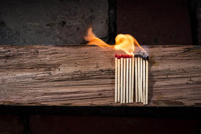Brandgefahr Büro