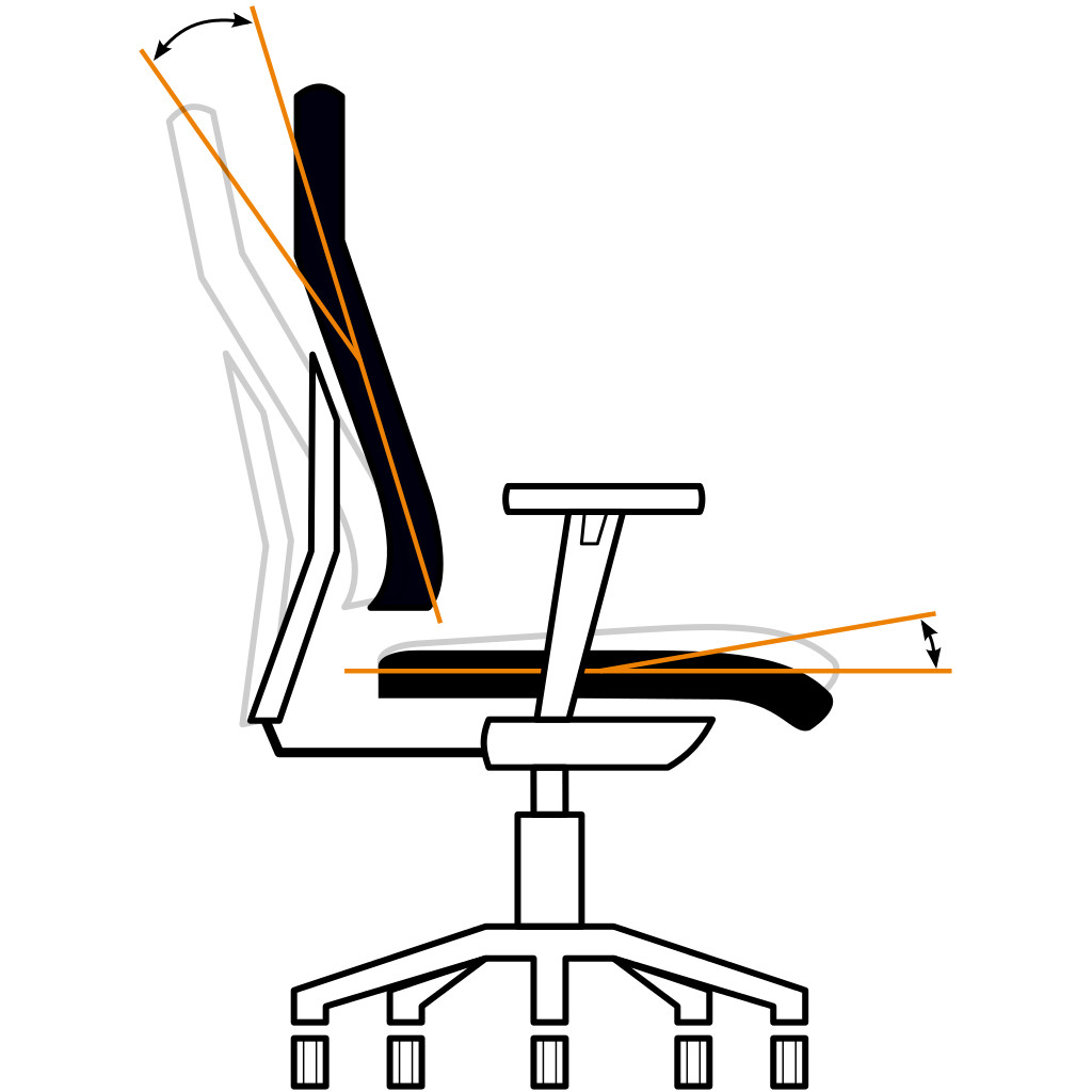 Bürostuhl skizze  Sitzen ohne Rückenschmerzen: Die S-Move-Mechanik - Büromöbel-Experte
