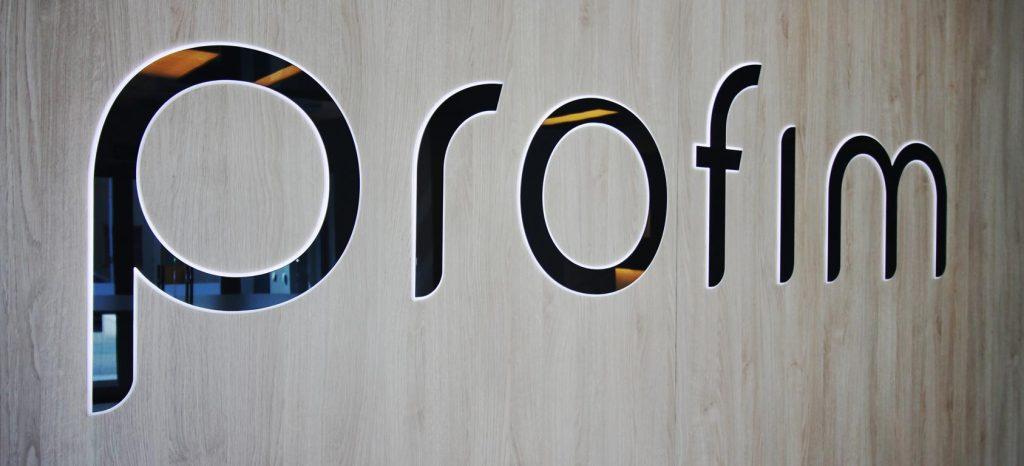 Logo vom Büromöbelhersteller profim