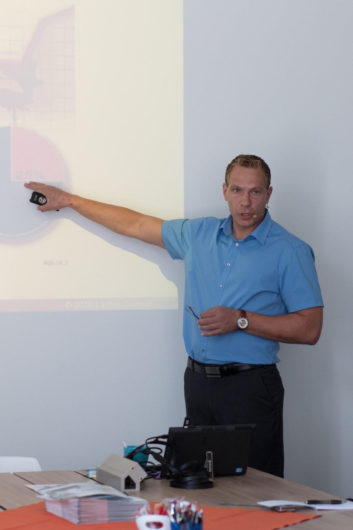 Martin Lauble während seiner Präsentation