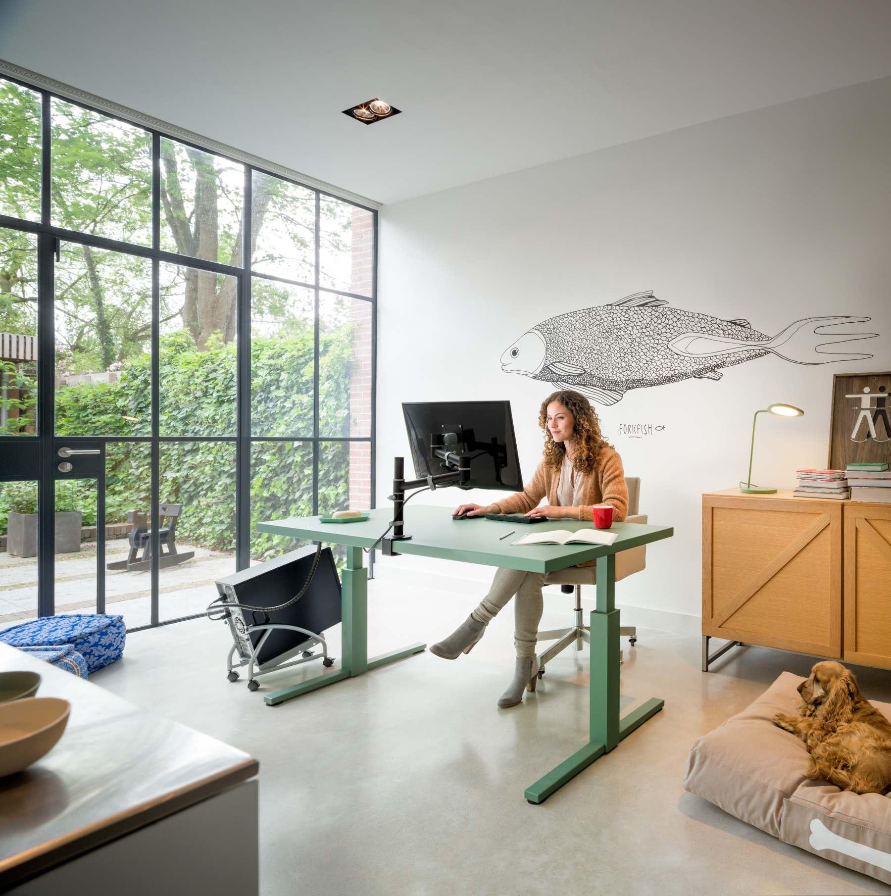 den schreibtisch richtig positionieren darauf sollte man. Black Bedroom Furniture Sets. Home Design Ideas