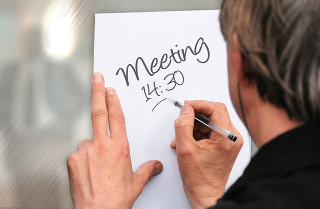 Meeting abhalten vor dem Aufräumen