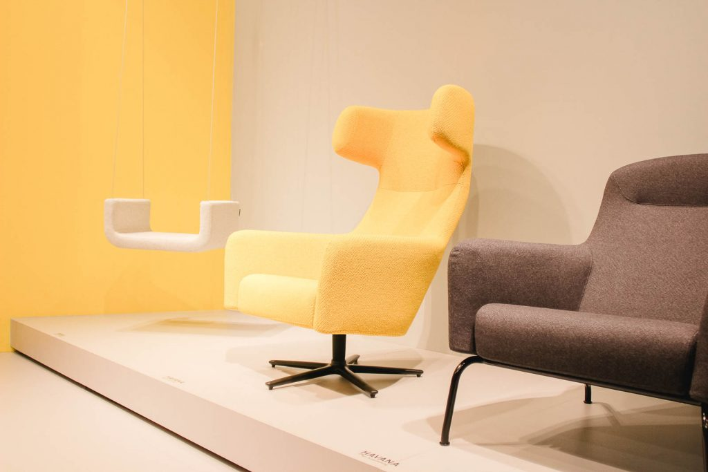 Orgatec 2016: Loungesessel im Pastell-Look