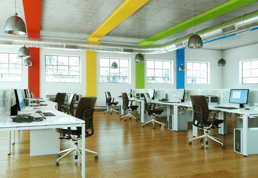 frische farben im b ro so wird es gem tlicher. Black Bedroom Furniture Sets. Home Design Ideas