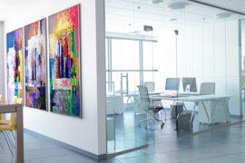 Gestaltungsideen für karge Bürowände 2