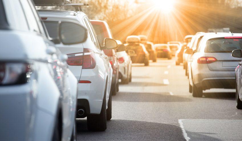 Arbeitsweg: Stau auf der Autobahn