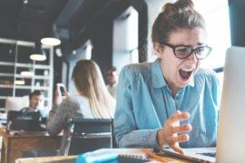 Stress im Bürojob