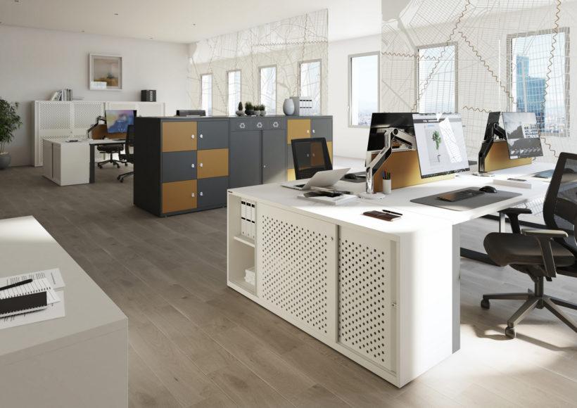Stahl findet sich nicht nur als Tischgestellen, auch viele Möbel bestehen aus diesem flexiblen Material