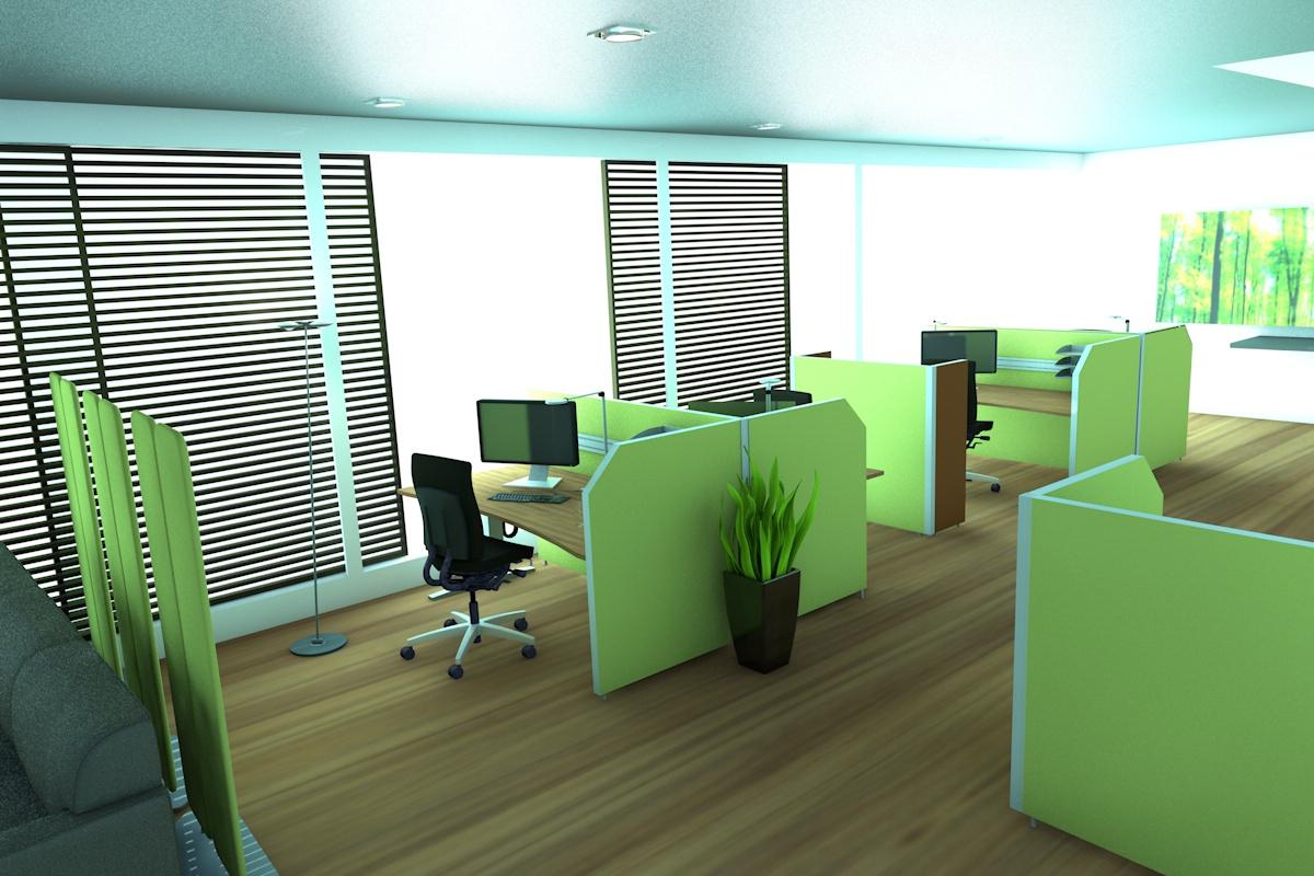 Abgetrennete Bereiche sorgen im Callcenter für mehr Konzentration