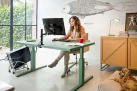 Schreibtisch korrekt positionieren